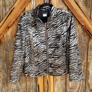 City Girl Black & Silver Fun Jacket XL